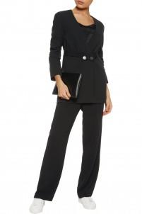 Lambert belted stretch-crepe blazer