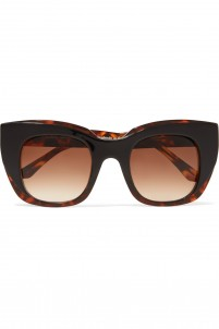 Intimacy square-frame printed acetate sunglasses