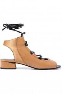 Drum lace-up leather sandals
