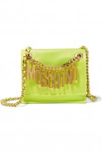 Embellished leather shoulder bag