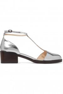 Augustine metallic T-bar sandals