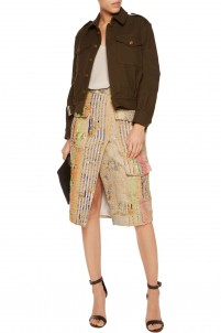 Metallic brocade skirt