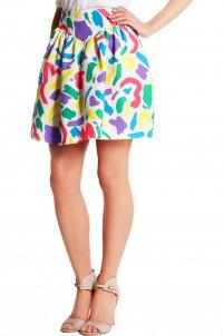 Printed cotton-jacquard mini skirt