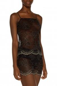 Metallic lace pajama set