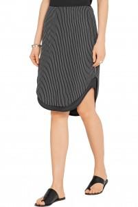 Madison layered striped silk skirt