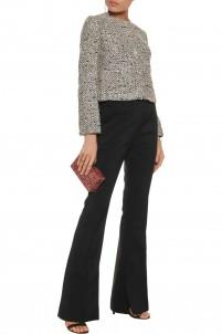 Sequin-embellished bouclé jacket