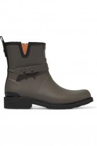 Moto rubber rain boots