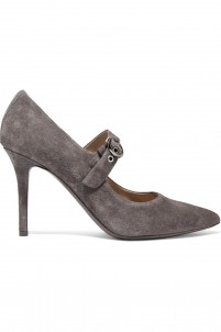 Glenna suede Mary Jane pumps