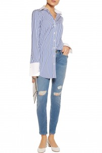 Le Skinny de Jeanne distressed mid-rise skinny jeans