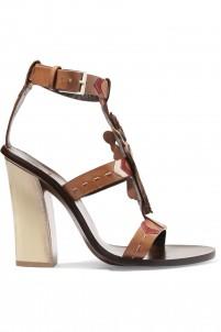 Kachina Doll paneled leather sandals
