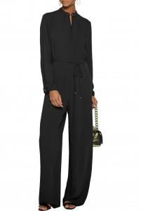 Baton Tuck crepe jumpsuit