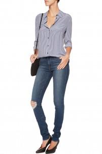 Forever Karlie distressed mid-rise skinny jeans