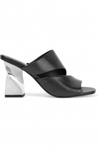 Dinero cutout leather mules
