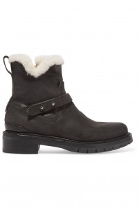 Ashford shearling-lined nubuck ankle boots