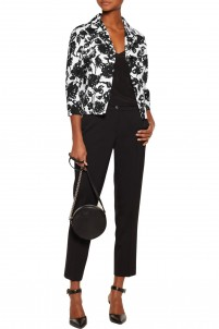 Printed cotton and silk-blend jacket