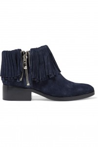 Alexa fringed suede ankle boots