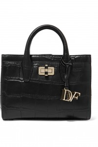 Viviana mini croc-effect leather tote