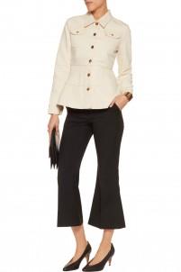 Fluted cotton-canvas jacket