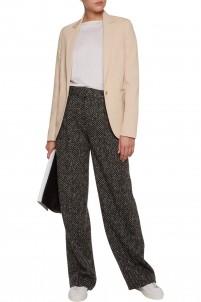 Slub linen-blend blazer