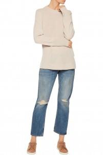 Embroidered distressed boyfriend jeans