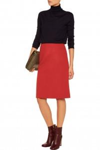 Wool, cashmere and angora-blend felt skirt