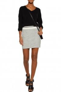 Textured stretch-jersey mini skirt