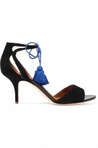 Gladys tassel-trimmed suede sandals