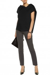 Draped Modal-neoprene top