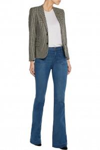 Le Bardot mid-rise flared jeans