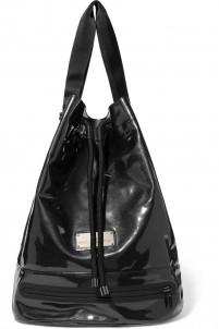 Coated-canvas shoulder bag