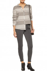 The Soho Zip Stiletto mid-rise skinny jeans