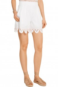 Hika embroidered cotton-poplin shorts