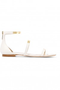 Twilight matte and metallic leather sandals