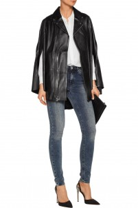 Harley leather cape