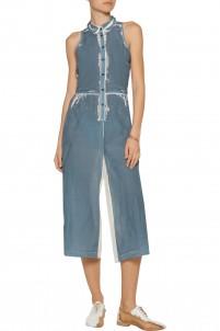 Printed silk jumpsuit