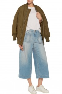 The Culotte cropped mid-rise wide-leg jeans