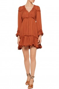 Ashburn ruffled silk mini dress