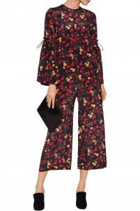 Paige printed silk jumpsuit