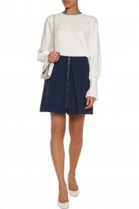 Thea wool-blend crepe mini skirt