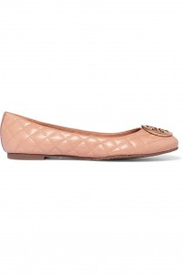Quinn embellished quilted leather ballet flats