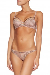 Little Havana lace and satin contour bra