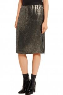 Sequined silk-chiffon skirt