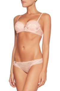Liberty low-rise satin-trimmed stretch-lace briefs