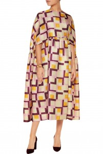 Margo printed woven cape