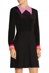 Clifton crepe de chine and twill mini dress