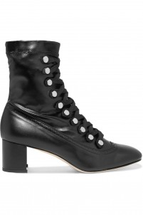 Malika studded lace-up leather ankle boots
