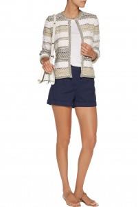 Keira cotton-blend bouclé cardigan