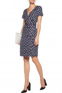New Julian wrap-effect printed silk-jersey dress