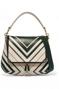Maxi Zip leather shoulder bag