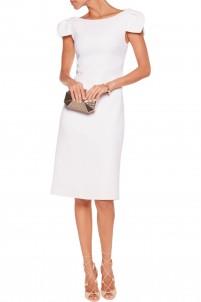 Wool-crepe midi dress